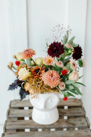 Foxy Fall Vase in Beloit, OH   American Flower Farm & Florist