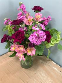 Fragrance Blooms fresh vase arrangement