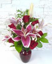 Fragrant Stargazers & Roses
