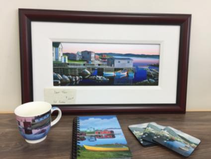 Framed artwork by Ed Roche Gift items