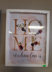 Framed Home Sign Giftware