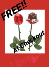 FREE Chocolate Rose- At Checkout Edible