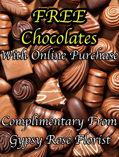 FREE CHOCOLATES WITH ONLINE ORDERS ONLY!  in Calgary, AB | Gypsy Rose Florist