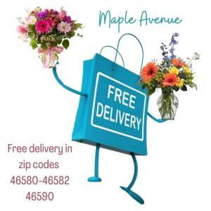Free Delivery —-Substitution Policy  in Warsaw, IN | Maple Avenue Flowers