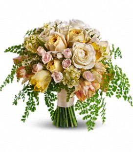 Free flowing Garden style Bridal Bouquet
