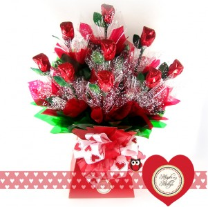 FREE LONG STEM CHOCOLATE ROSE WITH YOUR VALENTINES DAY ORDER!