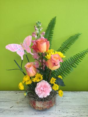 Free Spirit Garden Spring Arrangement in Milton, FL   PURPLE TULIP FLORIST INC.