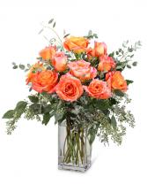 Free Spirit Roses (12) Flower Arrangement