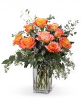 Free Spirit Roses (9) Flower Arrangement