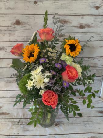 Free Spirit vase arrangement