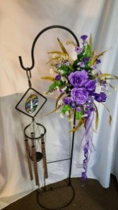 Standing Wind Chimes with Permanent Botanicals