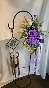 Free Standing Wind Chimes with Silk Flowers  in Crestview, FL | FLORAL DESIGNS
