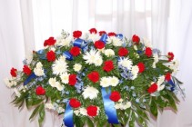 FREEDOM RING CASKET COVER FUNERAL FLOWERS