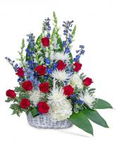 Freedom Tribute Basket Sympathy
