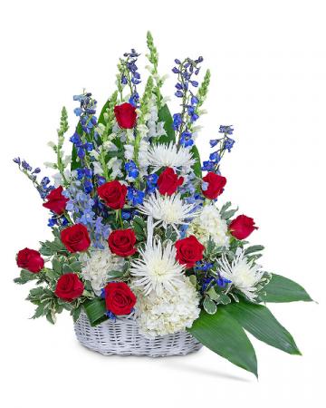 Freedom Tribute Basket Sympathy Arrangement