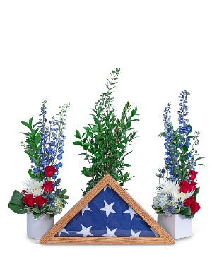Freedom Tribute Sympathy in Nevada, IA | Flower Bed