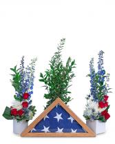 Freedom Tribute Sympathy Arrangement