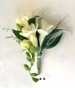 Freesia Boutonniere Weddings and Prom