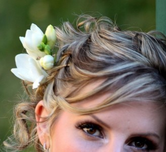 Freesia hairpiece