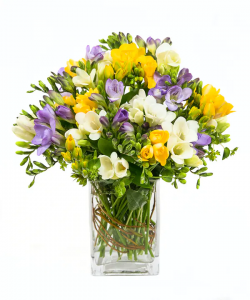 Freesias vase in Port Dover, ON | Upsy Daisy Floral Studio