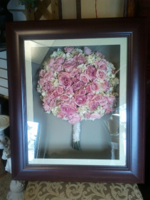 Freeze Dried Bridal Bouquet Shadow Box