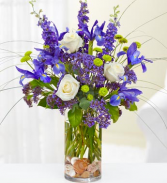 French Blue Floral Arrangement