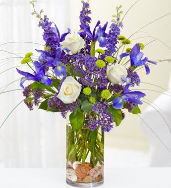 French Blue Floral Arrangement