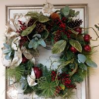 French Country Christmas wreath Christmas