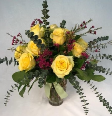 French Market Dozen Rose Arrangment