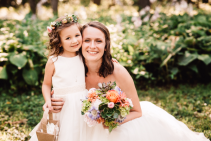Fresh and succulent Bouquet  Bridal Bouquet and flower girl Halo