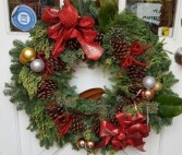 Fresh Christmas Door Wreath
