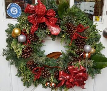 Fresh Christmas Door Wreath