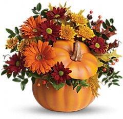 Fresh Country Pumpkin centerpiece