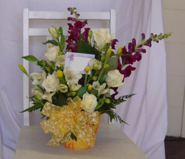Fresh Cut Arrangement in Decorative Vase