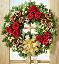 Fresh Evergreen Decorated wreath Christmas Wreath