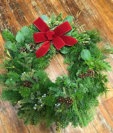 Fresh Evergreen Memorial Wreath