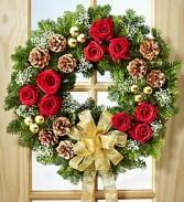 Fresh Evergreen Wreath Decorated Beautiful Balsam Wreath