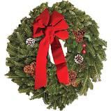 Fresh Evergreen Wreath Arrangement