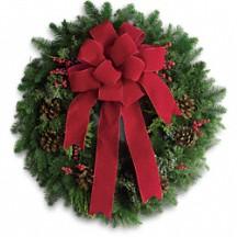 Fresh Evergreen Wreath Holiday Decor in Whitesboro, NY | KOWALSKI FLOWERS INC.