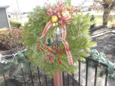 Fresh Evergreen Wreath Winter