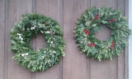 Fresh Evergreen Wreathes