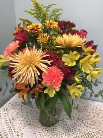 Fresh Fall Assortment Vase