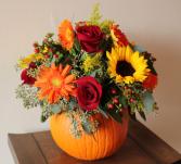 Fresh Fall  Large Pumpkin Mixed Arrangement LARGE FALL