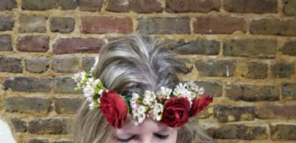 Fresh Floral Crown #122 Tie Back