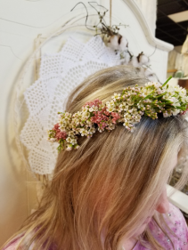 Fresh Floral Flower Crown #123 Tie Back Floral Crown