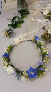 Fresh Floral Flower Crown #125 Tie Back Floral Crown