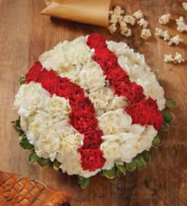 Fresh Flower Baseball Arrangement