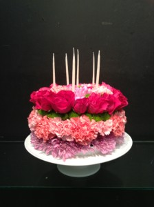 Fresh Flower Birthday Cake Birthday in Edmonton, AB | POLLIE'S FLOWERS