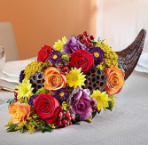 Fresh Flower Cornucopia Arrangement