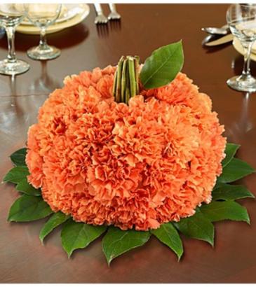 Fresh Flower Pumpkin Arrangement